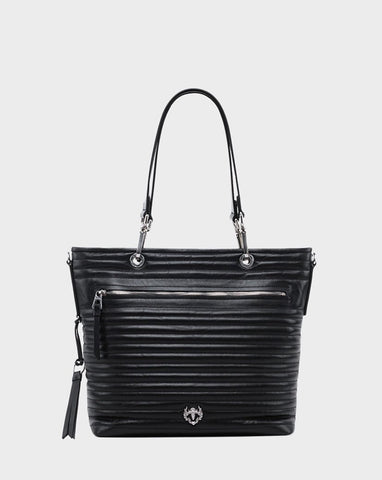 PANDORA QUILTED LEATHER TOTE BAG