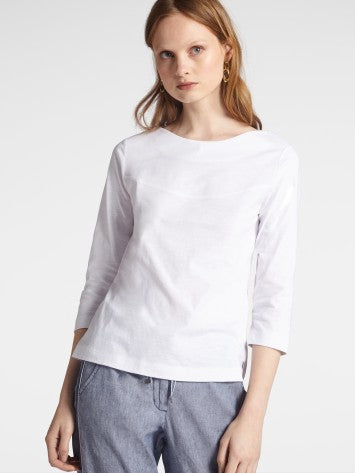 LONG-SLEEVE TOP WITH BATEAU NECKLINE
