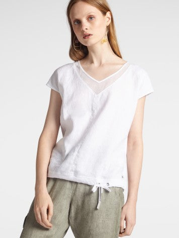 T-SHIRT WITH MESH DETAILS