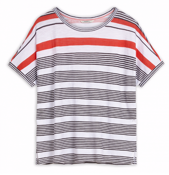 OVERSIZED T-SHIRT WITH STRIPES