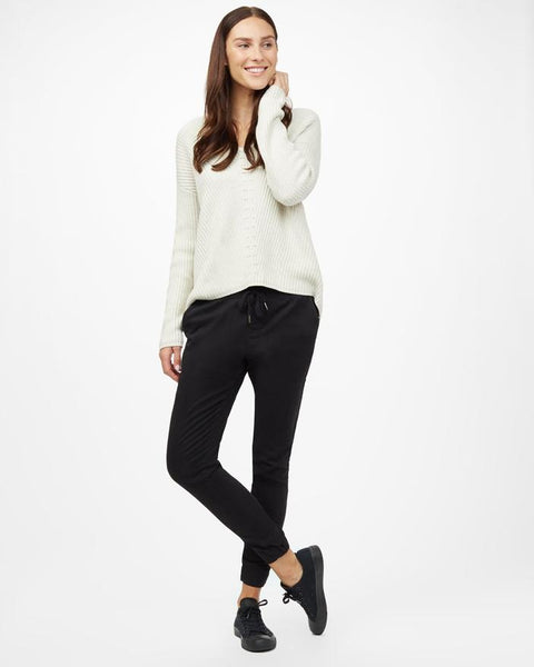 HIGHLINE COTTON V-NECK SWEATER