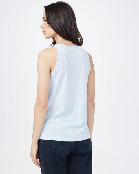 RIBBED HIGH NECK TANK