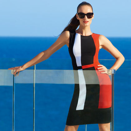 Joseph Ribkoff - Color Block Dress - Nica's Clothing & Accessories - 1