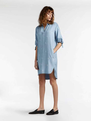 DENIM BLOUSE DRESS