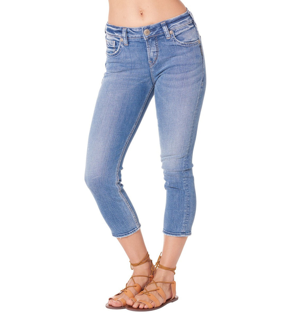 Silver Jeans Suki High Rise Capri - Nica's Clothing & Accessories - 1