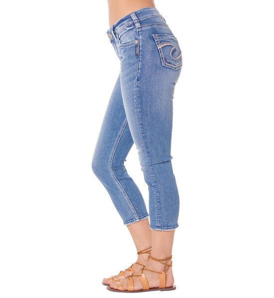 Silver Jeans Suki High Rise Capri - Nica's Clothing & Accessories - 3