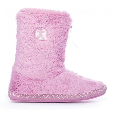 Marilyn - Classic Faux Fur Slipper Boots - Dusky Pink - Nica's Clothing & Accessories - 1