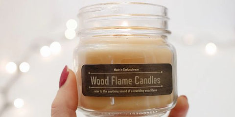 ENERGIZE WOOD FLAME CANDLE