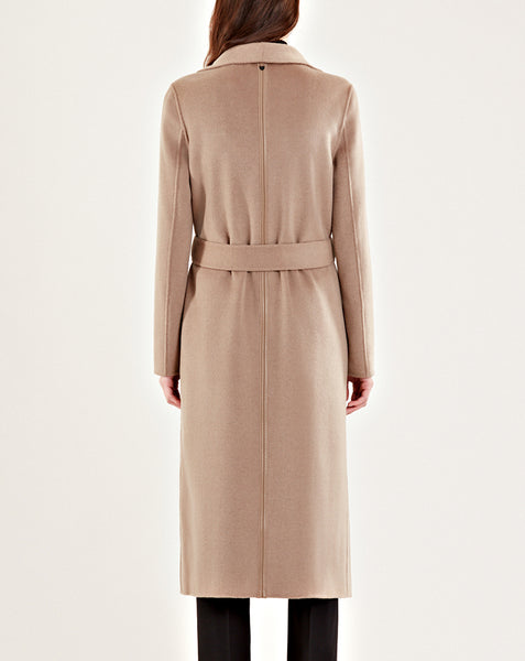 MURMU DOUBLE FACE LONG WOOL COAT WITH BELT