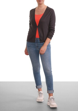 OPEN-FIT FINE-KNIT CARDI