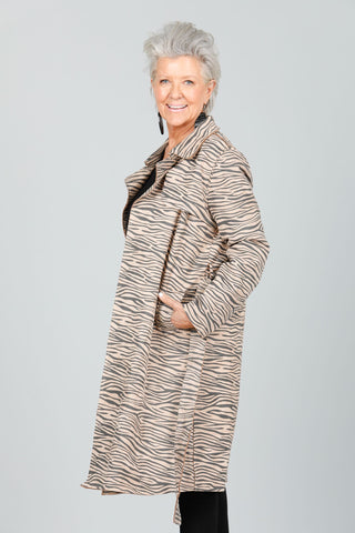Brave + True Safari Trench Coat Zebra - Total Woman Total Home