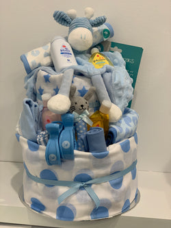 Baby Nappy Cake Large Blue
