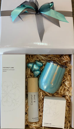 Aromabotanical Coconut Lime and Travino Aqua Mist Gift Box - Total Woman Total Home