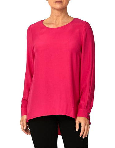 Ping Pong Long Sleeve Top Fuschia - Total Woman Total Home