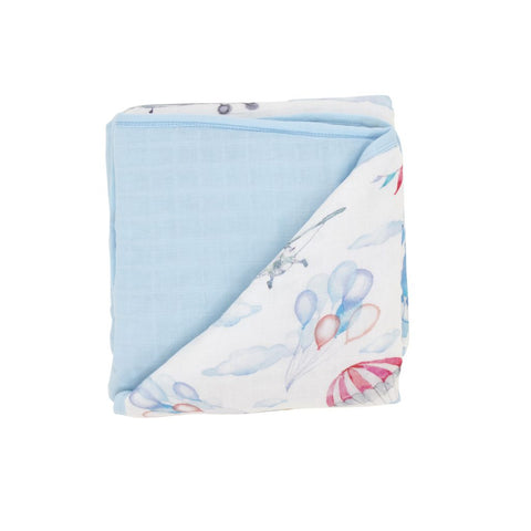 All4Ella Muslin Blanket Planes - Total Woman Total Home