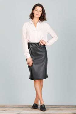 Brave + True Beverly Faux Leather Skirt - Total Woman Total Home