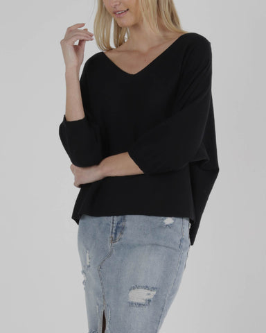 Sass Amelie Knit Black