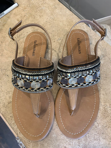 Talisman Ali Sandals Black and grey - Total Woman Total Home