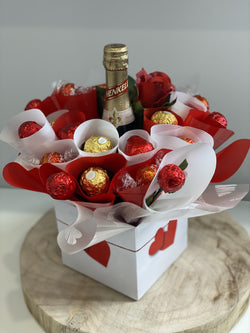 Chocolate and Bubbles Box Red