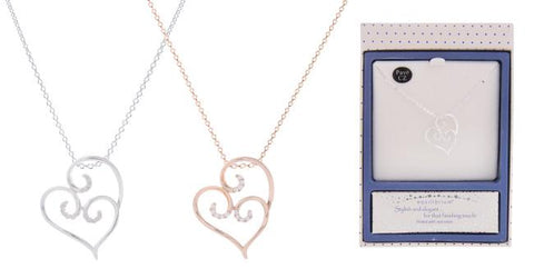 Equilibrium Looped Heart Necklace - Total Woman Total Home