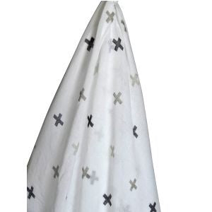 Baby Muslin Wrap Grey Cross