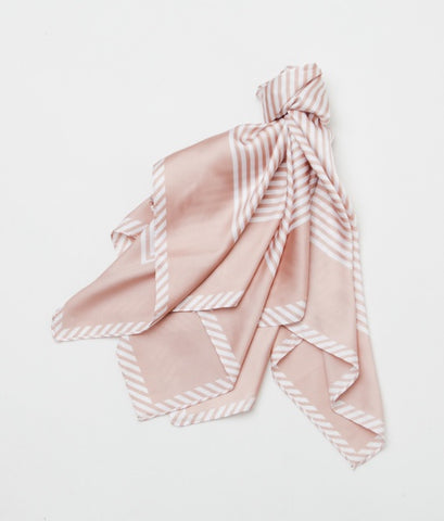 Gingerlilly Small Head Scarf Pink Stripe - Total Woman Total Home