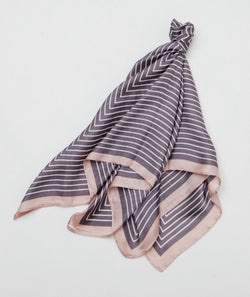 Gingerlilly Small Head Scarf Pink Grey Stripe - Total Woman Total Home