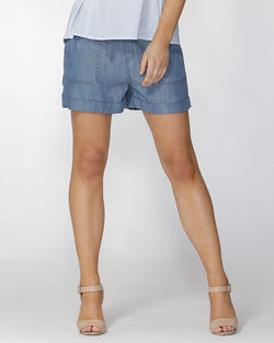 Fate + Becker Raffine Lyocell Shorts - Total Woman Total Home
