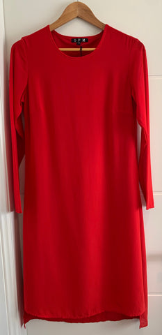 Chateau split dress Red - Total Woman Total Home