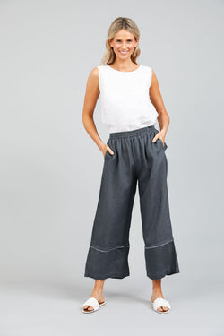 Holiday Sailor Pants Charcoal Linen