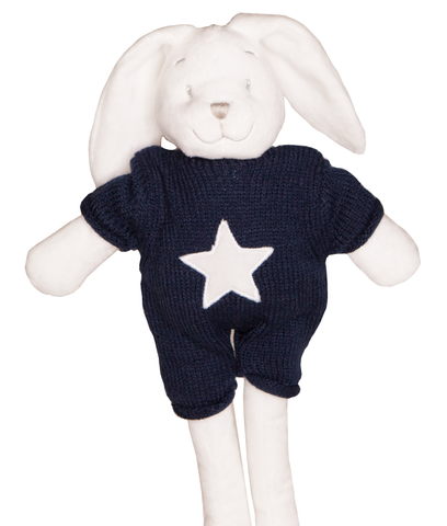 Gingerlilly Bunny with Knit Navy Top - Total Woman Total Home