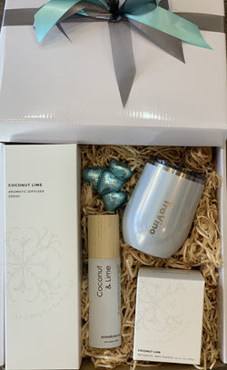 Aromabotanical Coconut Lime and Travino Unicorn Sparkles Gift Box - Total Woman Total Home