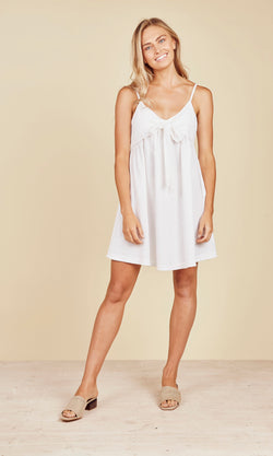 Daisy Says Baja Singlet Dress White - Total Woman Total Home