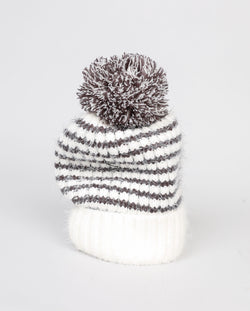 Brave + True Anchorage Beanie Charcoal and Off White - Total Woman Total Home