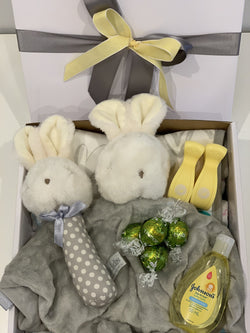 Baby Bunny Gift Box Grey - Total Woman Total Home