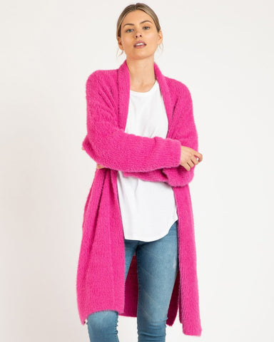 Betty Basics Mia Cardigan Fuchsia