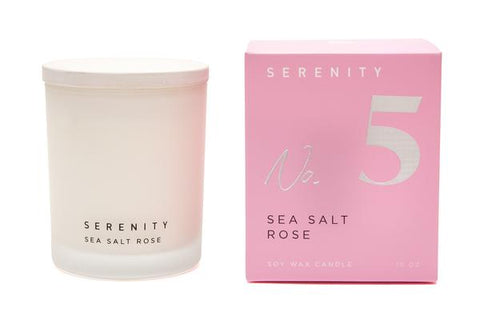Serenity Signature Candle No: 5 Sea Salt Rose 10oz