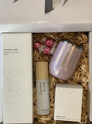 Aromabotanical Coconut Lime and Travino Blush Pink - Total Woman Total Home