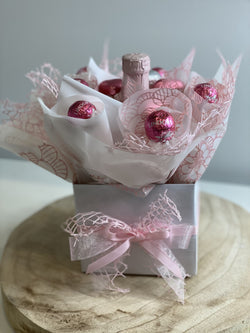 Chocolate and Bubbles Box Pink