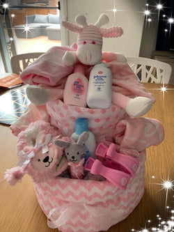 Baby Nappy Cake Large Pink - Total Woman Total Home