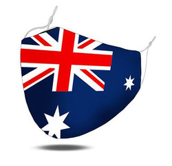 Face Mask Australian Flag with PM 2.5 Filters