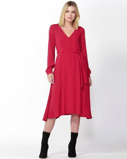 Fate + Becker Serenity Dress Raspberry - Total Woman Total Home