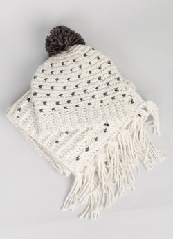 Brave + True Darby Beanie Ivory Charcoal - Total Woman Total Home