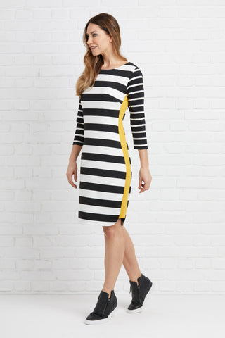 Foil Keen as Mustard Stripe Dress - Total Woman Total Home
