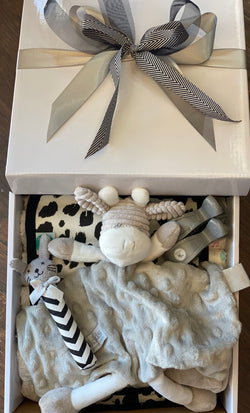 Baby Giraffe Gift Box Grey