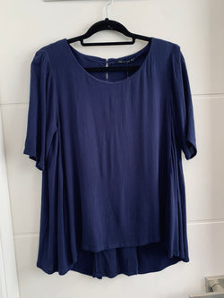 Fate + Becker Sonata Blouse Navy - Total Woman Total Home