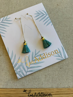 Dear Addison Candytuft Earrings Green - Total Woman Total Home