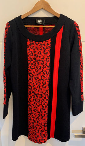 CC Collection Alana tunic Red and Black - Total Woman Total Home