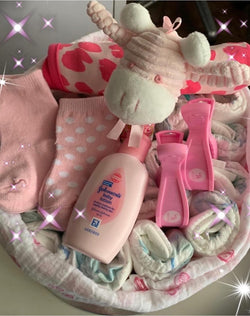 Baby Nappy Cake Small Pink - Total Woman Total Home