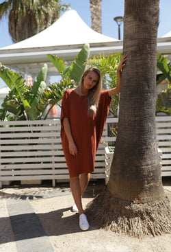 Betty Basics Maui Dress Terracotta